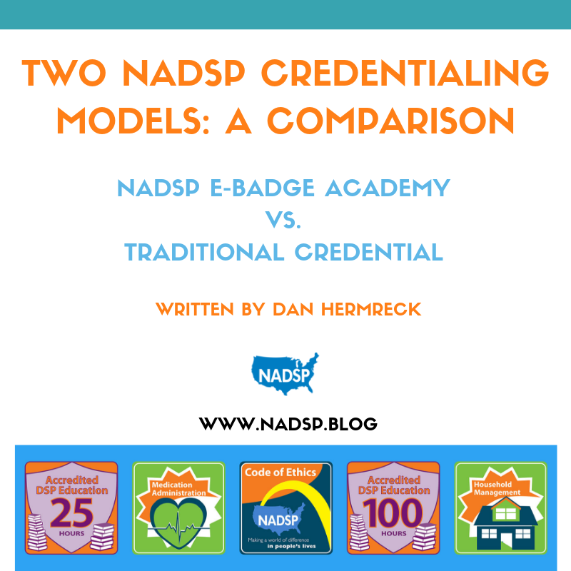 Two NADSP Credentialing Models: A Comparison by Dan Hermreck