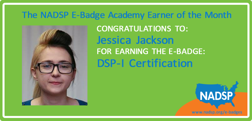 Jessica Jackson of The Arc NCR is our E-Badge Earner of the Month!