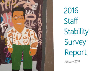 2016 Staff Stability Survey Report