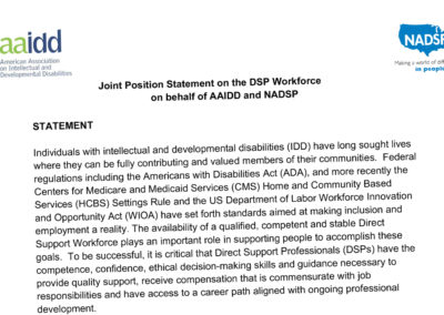 Joint Position Statement on the DSP Workforce