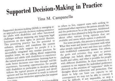 Supported Decision-Making In Practice