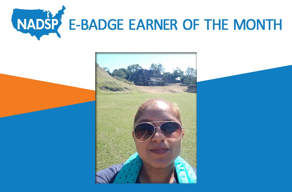 NADSP E-Badge Earner of the Month: Jacqueline Cerna