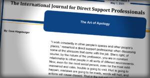 International Journal: The Art of Apology