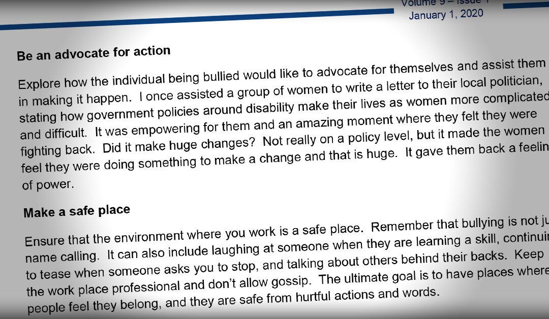 International Journal: Bullying and Social Violence