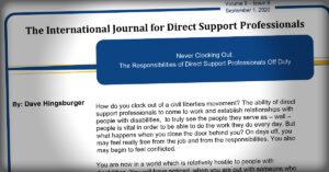 International Journal: Responsibilities of DSPs Off Duty