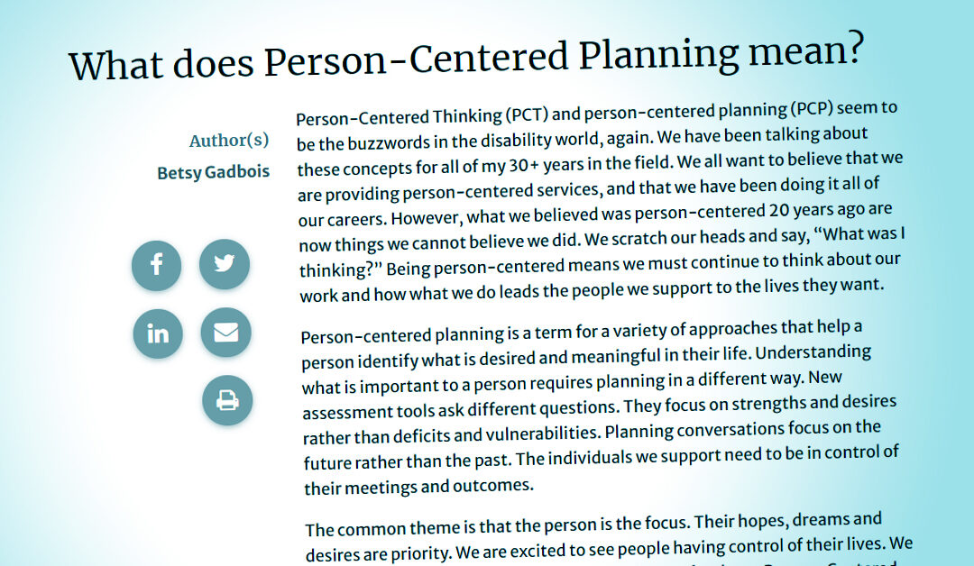 Frontline Initiative: Person-Centered Practices