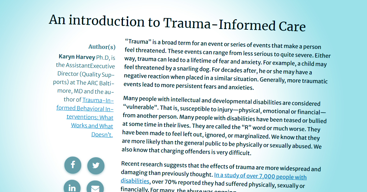 Frontline Initiative: Trauma-Informed Care